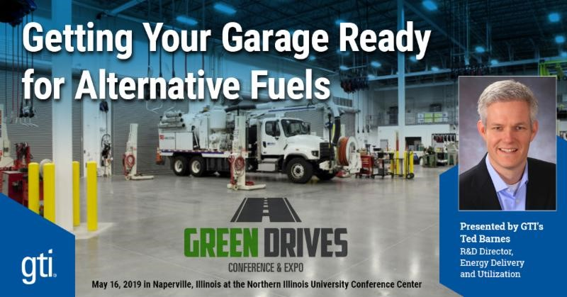 Green Drives Conference and Expo May 16, 2019 - Ted Barnes, GTI presentation on Getting Your Garage Ready for Alternative Fuels
