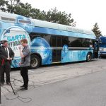 SARTA hydrogen fuel cell bus interview - Green Drives Conference Expo 2019-5-16 - Chicago Area Clean Cities photo